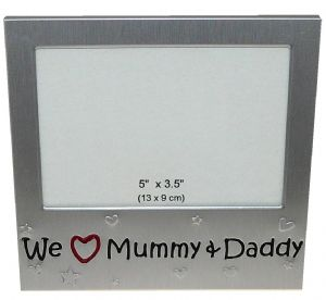 We Love Mummy & Daddy Photo Picture Frame 5 x 3.5